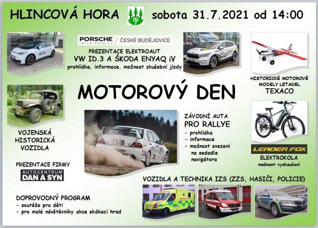 """plakát k akci  """"Motorový den"""""""